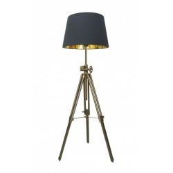 LAMPA STOJĄCA SEVILLE TS-062909F-BR Zuma Line, nowoczesne, lampy stojące, do salonu, czarny abażur, oryginalne, tkanina, metal