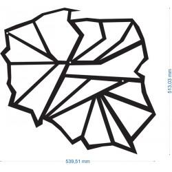 Dekoracja ścienna, z metalu, POLSKA 3, FLOXXY, metaloplastyka, ścienne dekoracje, mapa Polski, Polska, nowoczesna dekoracja
