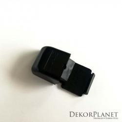 Czarny uchwyt pojedynczy, sufitowy, do szyn aluminiowych ZS, Creativa, uchwyty, uchwyty do szyn, pojedyncze