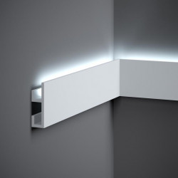 QL019P LISTWA ŚCIENNA LED, MARDOM DECOR PURE, MALOWANA LISTWA ŚCIENNA LED, LISTWA ŚCIENNA LEDOWA MALOWANA, BIAŁA LISTWA LED ŚCIE