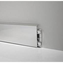 LISTWY PRZYPODŁOGOWE ALUMINIOWE, Profilpas LPA208, Listwa aluminiowa 7 cm., LISTWA PRZYPODŁOGOWA PROFILPAS, PROFILPAS LISTWY, L