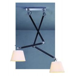 Lampa ZYTA PENDANT 2 S WHITE MD2300-2S WH White/black/chrome Azzardo
