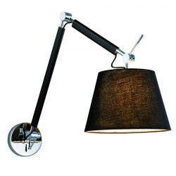 Lampa ZYTA WALL S BLACK MB2300-S BK black/black/chrome Azzardo