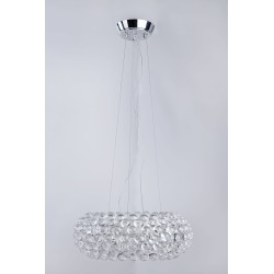 Lampa ACRYLIO 70 pendant V 026-700 chrome/clear/ white me Azzardo
