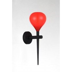 Lampa AGA wall MB1289 red /black metal / glass Azzardo