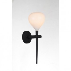 Lampa AGA wall MB1289 white /black metal / gla Azzardo