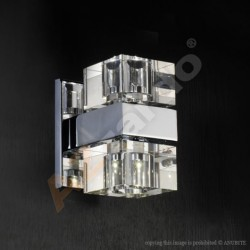 Lampa BOX 2 wall MB8515-2 metal/glass chrome/clea Azzardo