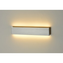 Lampa NORMAN WHITE WALL L MB5932L sandy whitealuminium Azzardo
