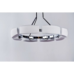 Lampa FIONA 8 pendant MD 1029-8 chrome/white metal/gla Azzardo
